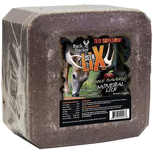 Rack Stacker Deer Lix, Supplement Block for Deers, Apple Flavored Mineral Lick, 25 Lbs