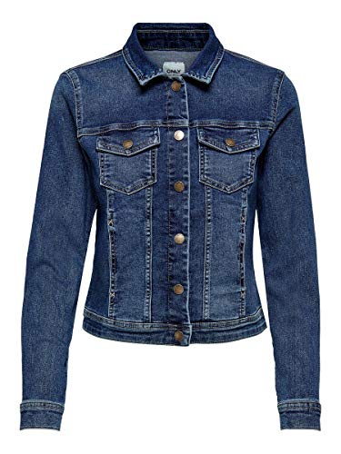 ONLY Female Jeansjacke Kurze 42Dark Blue Denim