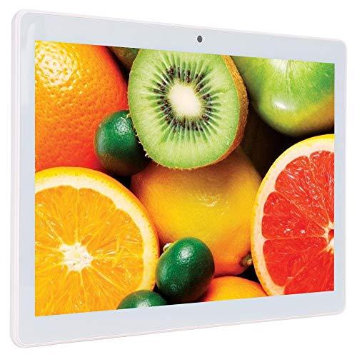 Tableta Tableta Android de 10.1 Pulgadas, Tabletas para teléfonos Inteligentes con 4GB + 64GB,Pantalla IPS HD de 1280x800,GPS,WiFi Bluetooth,Procesador de Cuatro núcleos,Cámara Dual(Enchufe de la UE)