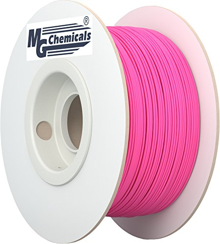 MG Chemicals Fluorescent Red / Hot Pink (Glows under Black light) PLA 3D Printer Filament, 1.75 mm, 1 kg