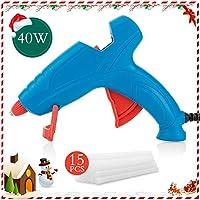 FL Hot Glue Gun, 40W High Temperature Hot Melt Glue Gun Kit with 15 pcs Glue Sticks