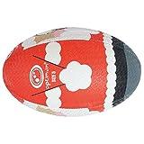 OPTIMUM Père-Noel Ballon de Rugby Rouge Taille 5