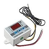 HALJIA xh-w3002 DC 24 V controlador digital de temperatura XH w3002 termostato con impermeable sonda 1 m calefacción o refrigeración 0.1 °C Precisión