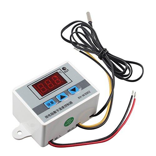 HALJIA xh-w3002 DC 24 V Digital Temperatur Controller XH W3002 Thermostat mit wasserdicht Sonde 1 m Heizung oder Kühlung 0,1 ℃ Genauigkeit