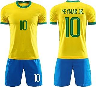 LDFN, LDFN Uniforme de Futbol Neymar Da Silva # 10 Camiseta De Fútbol, 2020 Fútbol Jersey Casa, Hombres Y Niños De Brasil (Color : A, Size : Adult-L)