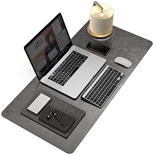 YSAGi Rutschfeste Schreibtischunterlage,Schreibtischmatte,Nicht klebrig PU-Leder Laptop Tischunterlage, Weich-Ultradünnes Schreibunterlage, ideal für Büro und Zuhause (Grau,80 * 40 cm)