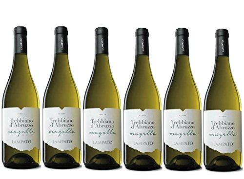 """Vino Bianco Trebbiano d'Abruzzo D.O.C. 2018 Cantine""""LAMPATO"""" Colline Pescaresi - Abruzzo - Italy - Box da 6 Bottiglie da 0,75 lt."""