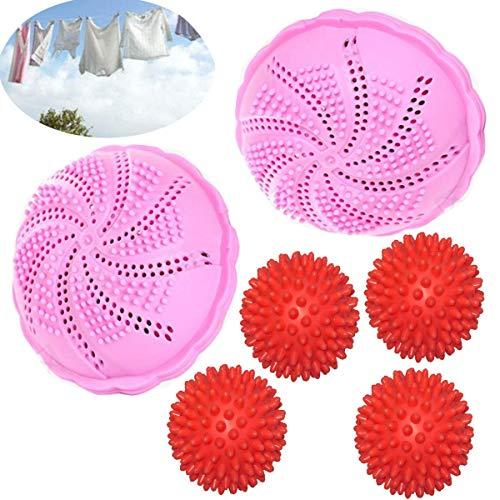 Umweltfreundlich Waschbälle,Saijer Mini Waschball Nachhaltig Waschkugel Antibakteriell Öko Wäscheball- Bis zu 1000 Wäschen Für Waschmaschine