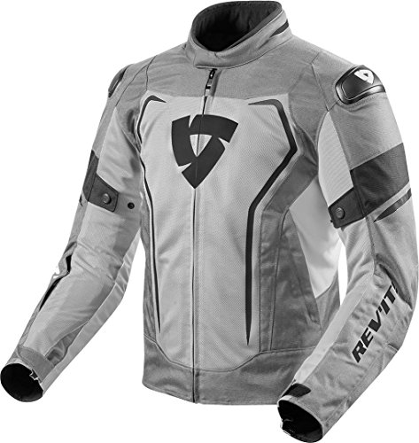Revit Vertex Air Textiljacke Hellgrau/Schwarz XL