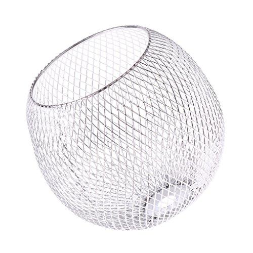 Baoblaze Eisen Lampenschirm für Tischlampe, Hänge- und Pendelleuchte, Kugel/Vase Form - Silber # 1