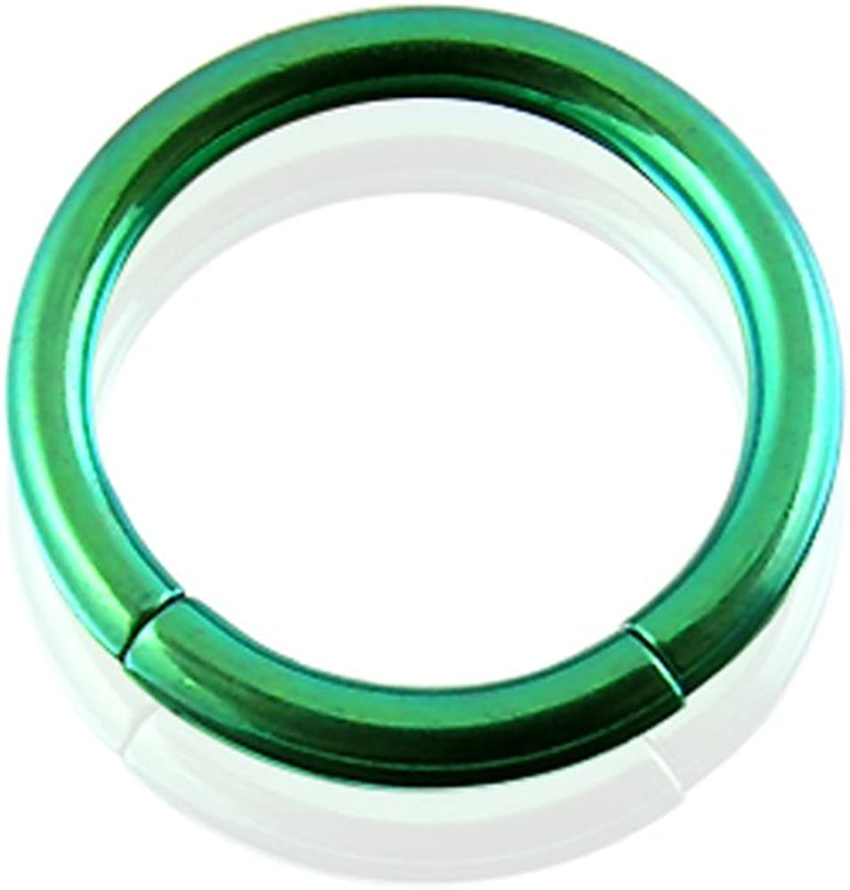 Curved Barbells Green Anodised Max 83% OFF Max 45% OFF Grade Solid 14 Titanium 23 Gauge