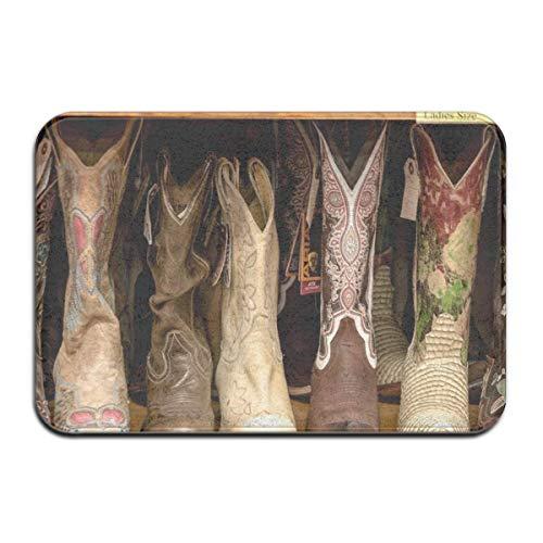 Voordeurmat buiten, deurmat binnen, deurmatten binnen, deurmat buiten, antislip deurmat Collectie felgekleurde dames cowboylaarzen