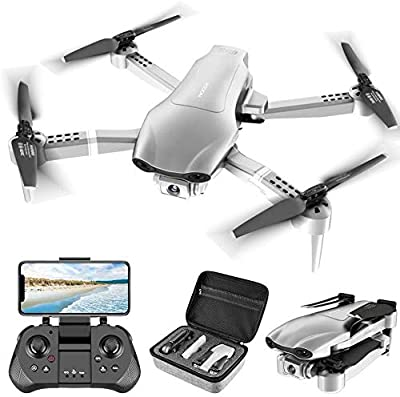 4DRC F3 GPS Drone for Adults with 4K Camera 5G FPV Live Video for Beginners, Foldable RC Quadcopter with Auto Return Home, Follow Me,Dual Cameras,Tap Fly,2 Batteries, Includes Carrying Case by 4drc