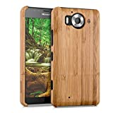 kwmobile Bamboo Case Compatible with Microsoft Lumia 950 -