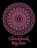 Checkbook Register: Red check register | 8.5x11 | 120 pages