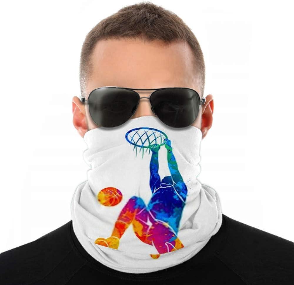 Headbands For Men Women Neck Gaiter, Face Mask, Headband, Scarf Basketball Player Ball Turban Multi Scarf Double Sided Print Face Mask Bandana Men For Sport Outdoor