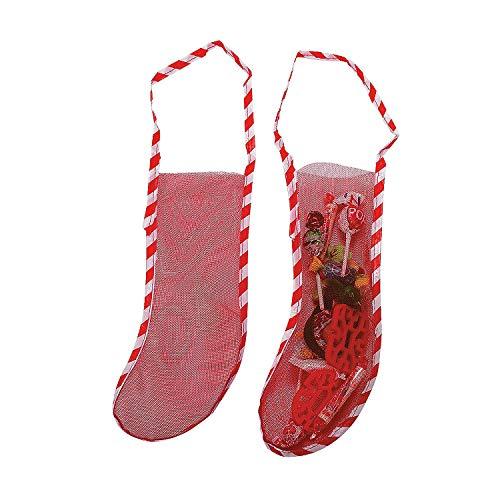 Mesh Christmas Stockings - Set of 10 - Holiday Home Decor