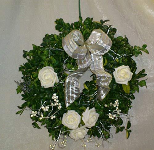 Buchsbaumkranz silber Hochzeit, Jubiläum frisch in 3 Größen