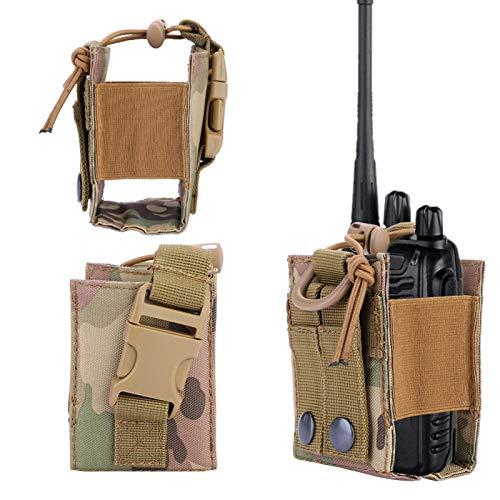 SALUTUYA Bolsa de interfono para Exteriores de 3.7 x 2.8 x 2 Pulgadas, para Juegos de Caza de Combate al Aire Libre(CP Camouflage)