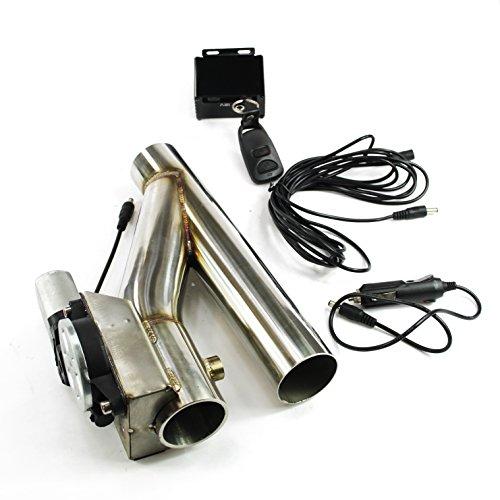 Klappenauspuff-System aus Edelstahl Y-Rohr, elektrisch inkl. Fernbedienung - 57mm Außendurchmesser