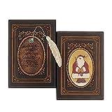 Wonderpool cuero realzado del cuaderno de la navidad con el cobre marca - antiguo a5 bound arte de...
