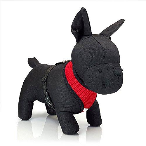 cucciolo di cane Pet regolabile imbracatura morbida rete imbottita da tessuto guinzaglio clip