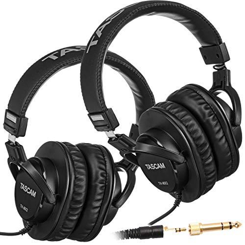TASCAM TH-MX2 Recording Mixing Home Studio Headphones (2 Pieces)