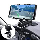Car Phone Mount, FONKEN Cell Phone Holder for Car 360 Degree Rotation Dashboard Clip Mount Car Phone Stand Compatible for iPhone 11/12 Pro Max XS Max XR 8 8Plus 7 Samsung Galaxy S10 S9 S8 LG and More