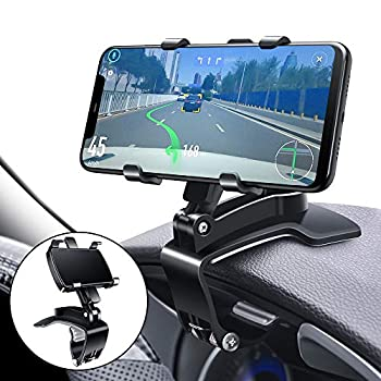 Car Phone Mount FONKEN Cell Phone Holder for Car 360 Degree Rotation Dashboard Clip Mount Car Phone Stand Compatible for iPhone 11/ 12 Pro Max XS Max XR 8 8Plus 7 Samsung Galaxy S10 S9 S8 LG And More