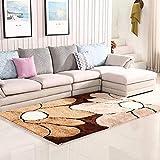 qazxsw Wohnzimmer Rutschfester Teppich Verdickte helle Seidenteppiche Fusselfreie Schlafzimmer-Bettmatten im modernen Stil