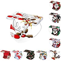 10-Pieces Viviyy Disposable Christmas Printed Face_Mask
