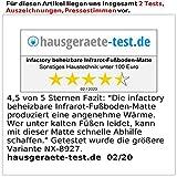 infactory Heizmatte: Beheizbare Infrarot-Fußboden-Matte, Vliesstoff, 50×55 cm, 60 °C, 66 W (Fussheizung) - 6