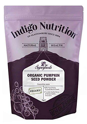 Indigo Herbs Proteine di Zucca Biologica in Polvere 1kg