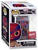 Funko Pop! Marvel Collector Corps Exclusivo Lucha Libre #706 Metallic El Aracno w/Free Acrylic Case
