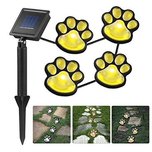ELINKUME® Solar Tierische Fußabdrücke Lichterketten mit Lichtsensor Warmweiß Lampenlicht, Perfekt Dekoration für Garten Balkon Party Festival