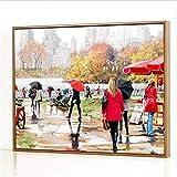 GJJHR DIY Pintura por Números Kits,Belleza bajo la Lluvia Pintada a Mano Pintura al óLeo Digital, DecoracióN del Hogar Regalo - 40x50cm(Sin Marco)