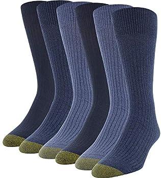 6-Pack Gold Toe Men's Stanton Crew Socks