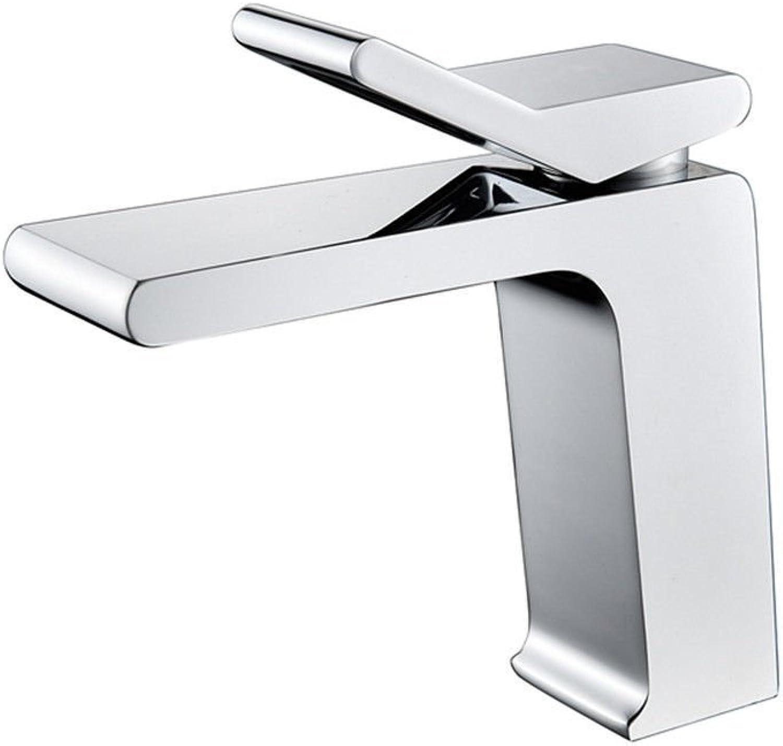 YI KUI Faucets Bathroom Basin Faucet hot and Cold Square Fashion Single Hole Single Handle Faucets