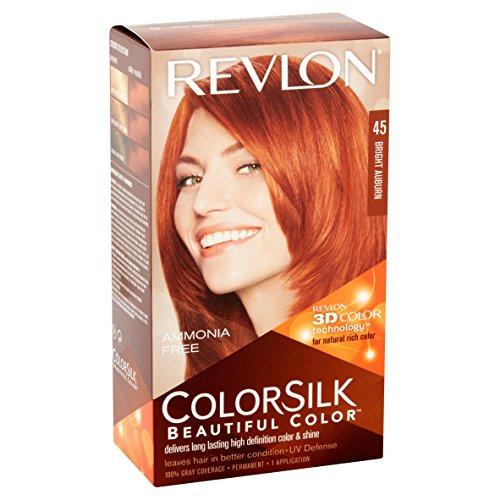 Revlon ColorSilk Beautiful Color [45], Bright Auburn, 1 ea (Pack of 2)