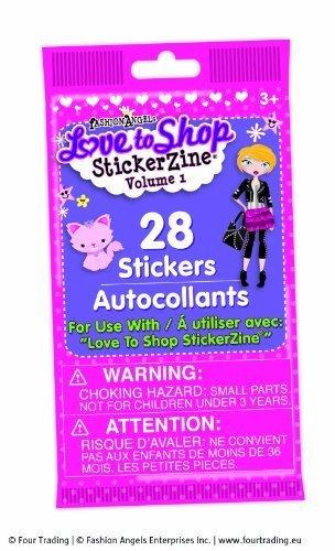 Fashion Angels 78001 Stickerzine Stickers Amour au Shopping Articles de Papeterie et Argent de Poche (Lot de 10, Volume 1)