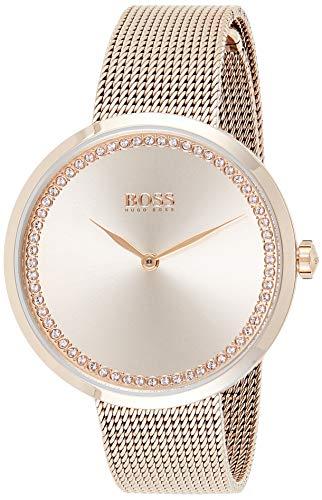 Hugo Boss Damen Analog Quarz Uhr mit Edelstahl Armband 1502548