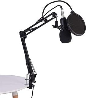 Soporte para Micrófono, Trípode Genérico Soporte Para Micrófono con soporte de micrófono, brazo de micrófono, protección pop para grabaciones, podcast, radio