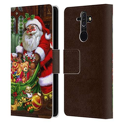 Head Case Designs Oficial Simone Gatterwe Los Regalos Invierno Eterno Carcasa de Cuero Tipo Libro Compatible con Nokia 8 Sirocco