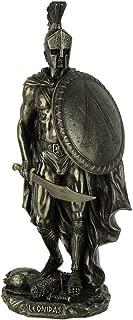 Veronese Design Resin Statues Spartan Warrior King Leonidas Bronze Finished Statue 4.5 X 10.25 X 3 Inches Bronze