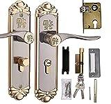 Palanca de manija de puerta - Cilindro de cerradura de puerta de manija interior duradera europea con llaves