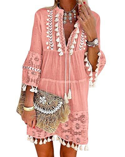 Onsoyours Vestidos Mujer Casual Vestido Largos de Fiesta Man