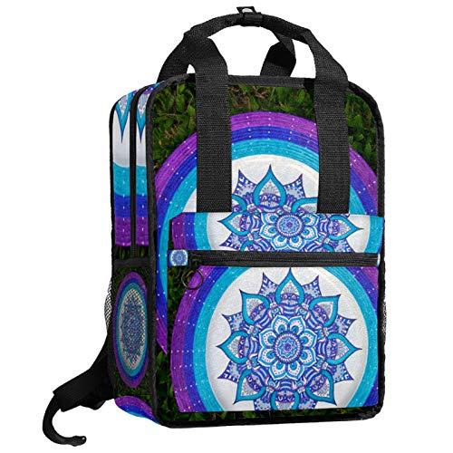 AITAI Plato-De-Sitio-Decorativo-Mandala-Mandala Mochila Librero para Adolescentes Colegio Daypack Bolsa de Viaje