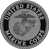OTA STICKER VINYL Marine Corps Car Decal USMC GRAY SIZE 3' Vinyl United States SOLDIER MILITARY DECAL WINDOW TRUCK MOTORCYCLE CHOPPER VAN WATER BOTTLE SCRAPBOOK CASING PHONE LAPTOP HELMET LUGGAGE ARMY GIFT