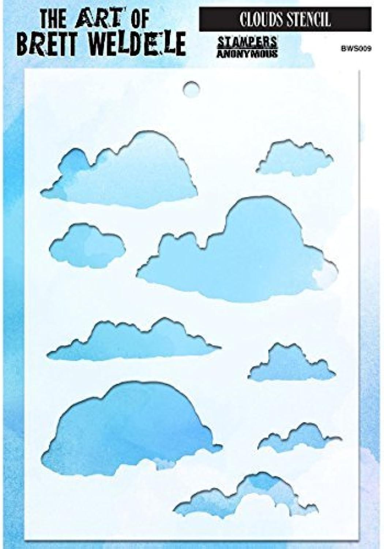 Stampers Anonymous Anonymous Anonymous BWS009 Clouds Brett Weldele Stencils, 6.5 by 4.5 by Stampers Anonymous B01KB7E5PC | Trendy  b790b2