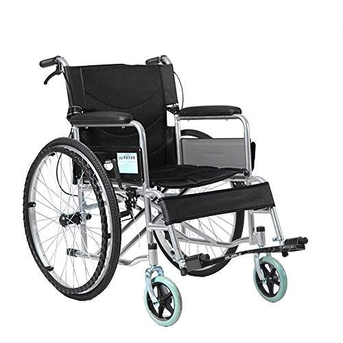 XM Rollstuhlantrieb Rollstuhl - Faltbarer Rollstuhl Old Man's Schubkarre Tragbare Behinderte Multifunktions Old Scooter (4 Farben) Wohnzimmer/Sessel & Stühle (Farbe : SCHWARZ)